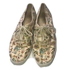 Keds Womens Floral Canvas Cotton Lace Up Sneakers